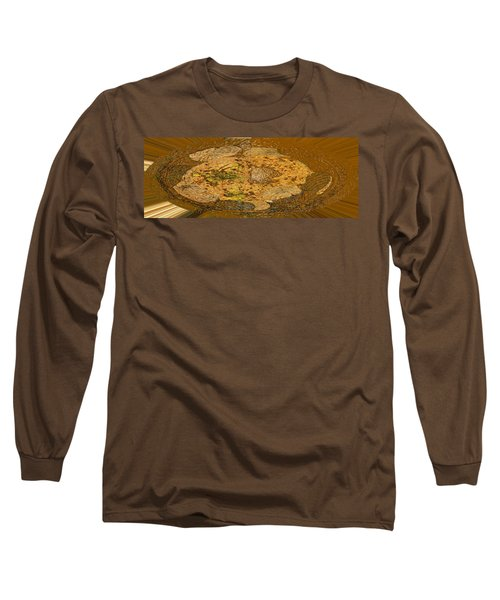 Long Sleeve T-Shirt featuring the photograph Wood Abstracted by Lenore Senior