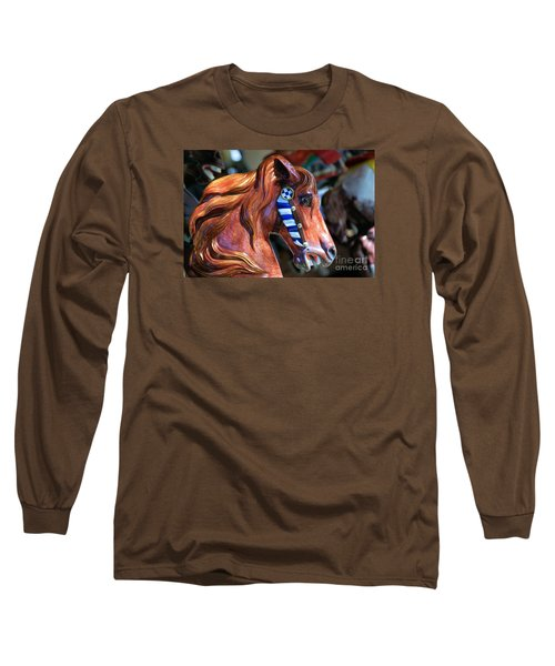 Wooden Horse Long Sleeve T-Shirt by John S