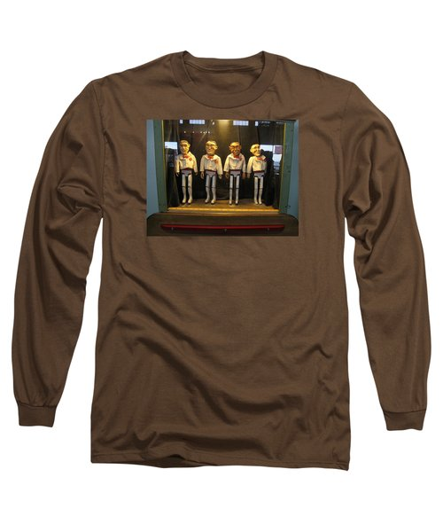 Long Sleeve T-Shirt featuring the photograph Wooden Rat Pack by John King