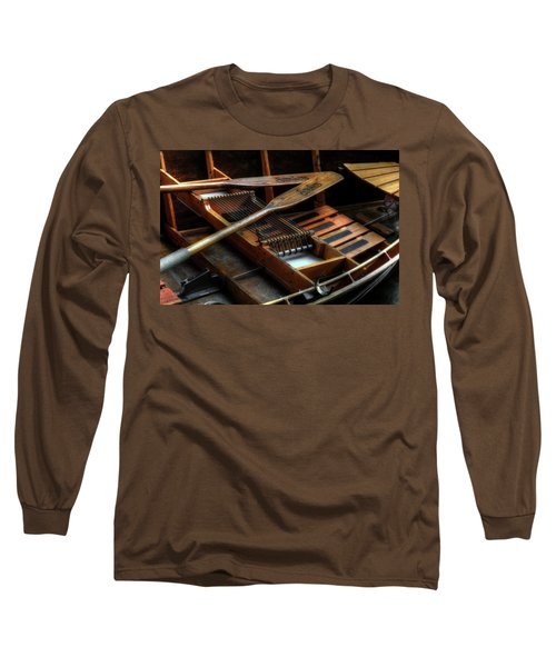 Wooden Rowboat And Oars Long Sleeve T-Shirt