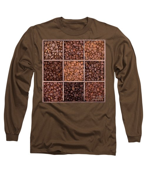 Wooden Storage Box Filled With Coffee Beans Long Sleeve T-Shirt