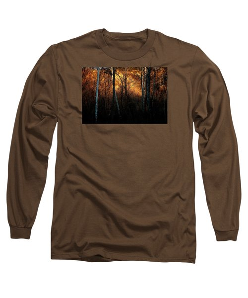 Woodland Illuminated Long Sleeve T-Shirt by Bruce Patrick Smith
