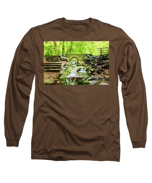 Woodland Steps And Stream Long Sleeve T-Shirt