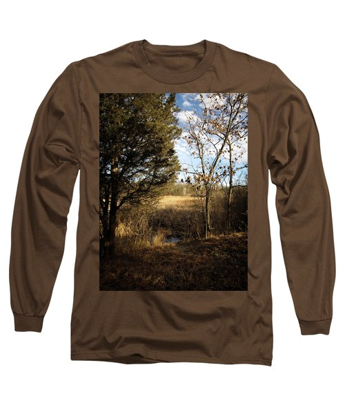Long Sleeve T-Shirt featuring the photograph Woodland View  by Kimberly Mackowski