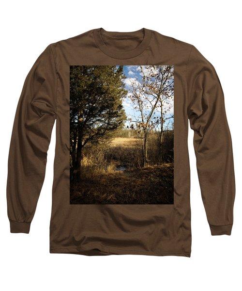 Woodland View  Long Sleeve T-Shirt by Kimberly Mackowski