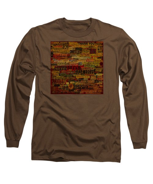 Long Sleeve T-Shirt featuring the mixed media Words Matter by Gloria Rothrock