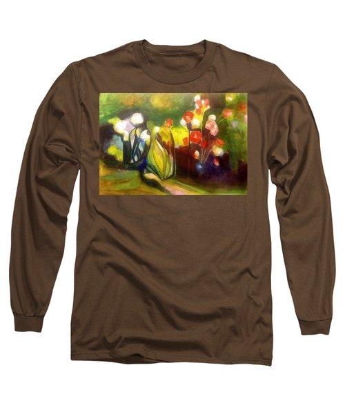 Warm Flowers In A Cool Garden Long Sleeve T-Shirt
