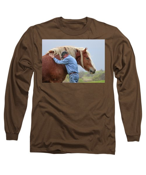 Wrangler Jeans And Belgian Horse Long Sleeve T-Shirt