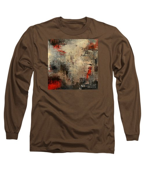 Long Sleeve T-Shirt featuring the painting Wreckage by Tatiana Iliina