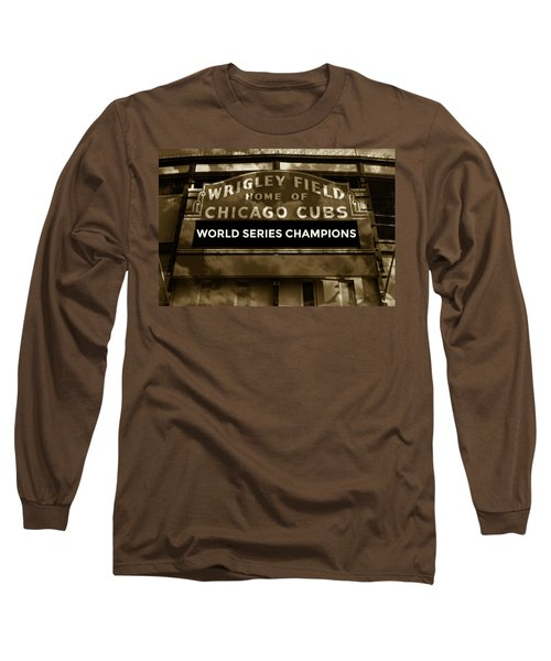 Wrigley Field Sign - Vintage Long Sleeve T-Shirt