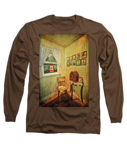 Long Sleeve T-Shirt featuring the photograph Wwii Era Room by Lewis Mann