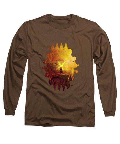 Ye Olde Mill Long Sleeve T-Shirt by Valerie Anne Kelly
