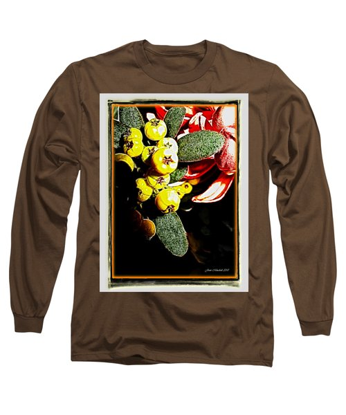 Long Sleeve T-Shirt featuring the photograph Yellow Berries by Joan  Minchak