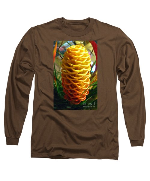 Long Sleeve T-Shirt featuring the photograph Yellow Cone Flower No. 2 by Merton Allen