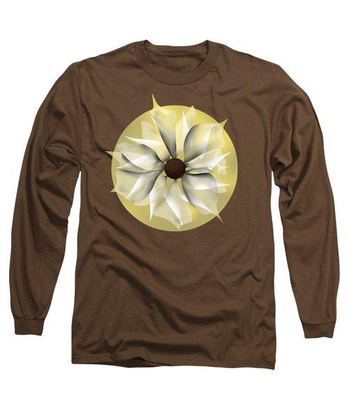 Yellow Soft Flower Long Sleeve T-Shirt