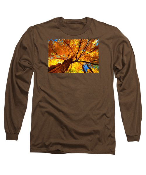 Yellow Tree Long Sleeve T-Shirt by Andre Faubert