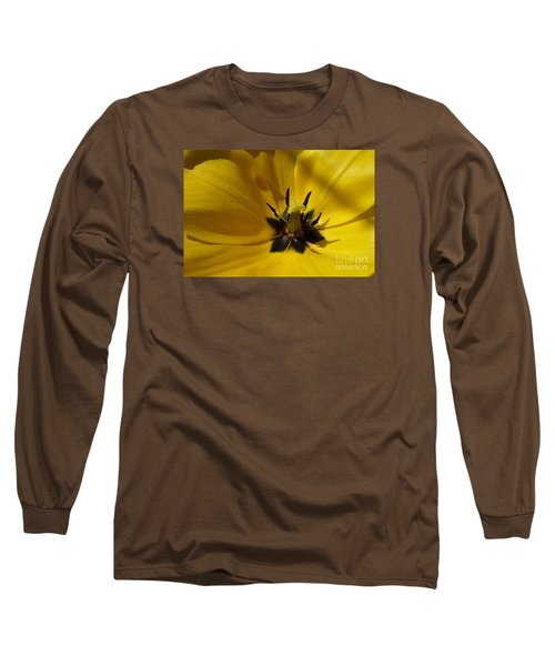 Yellow Tulip 1 Long Sleeve T-Shirt by Jean Bernard Roussilhe