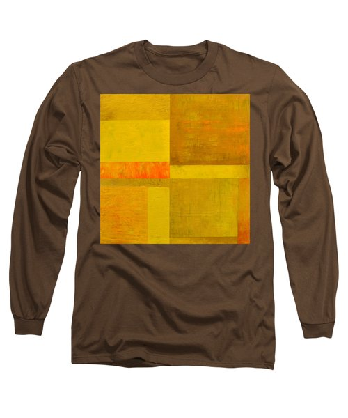 Yellow With Orange Long Sleeve T-Shirt