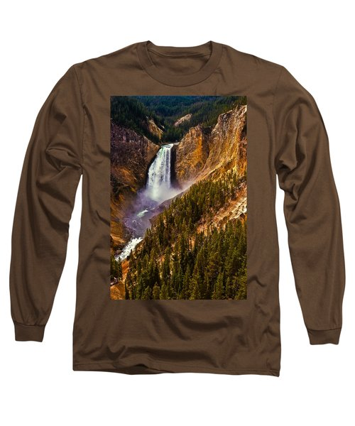 Yellowstone Falls Long Sleeve T-Shirt by Harry Spitz