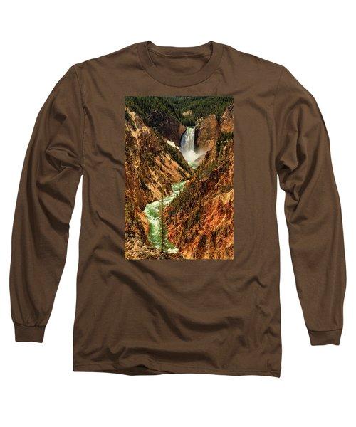 Yellowstone Long Sleeve T-Shirt by Rick Furmanek