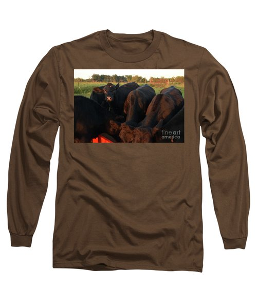 You Lookin At Me? Long Sleeve T-Shirt by Mark McReynolds