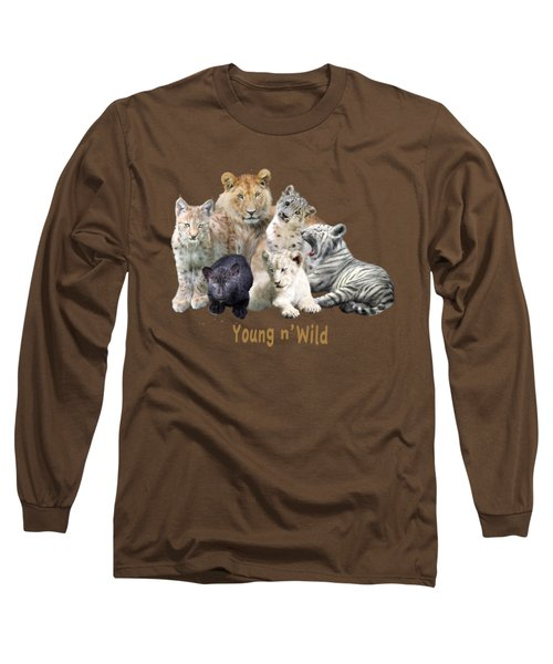 Young And Wild Long Sleeve T-Shirt by Carol Cavalaris