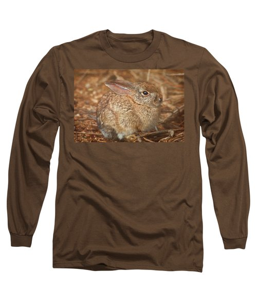 Young Cottontail In The Morning Long Sleeve T-Shirt