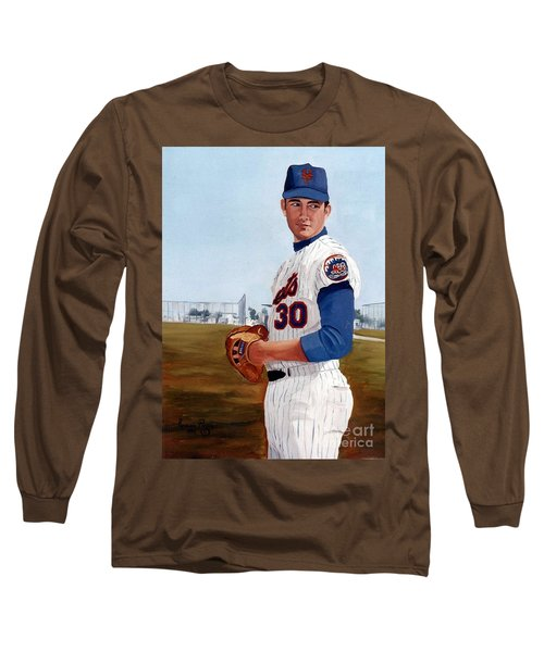 Young Nolan Ryan - With Mets Long Sleeve T-Shirt
