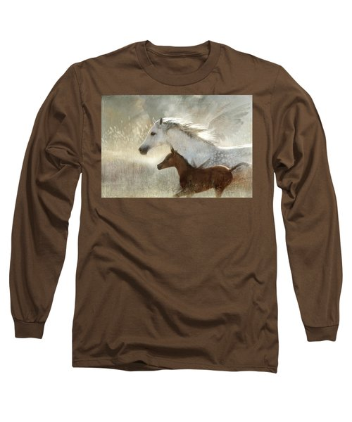 Long Sleeve T-Shirt featuring the digital art Your Wings Exist  by Dorota Kudyba