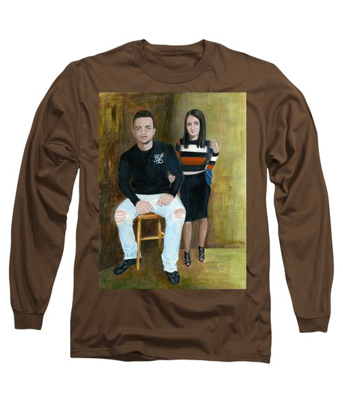 Youth And Beauty - Painting Long Sleeve T-Shirt by Veronica Rickard