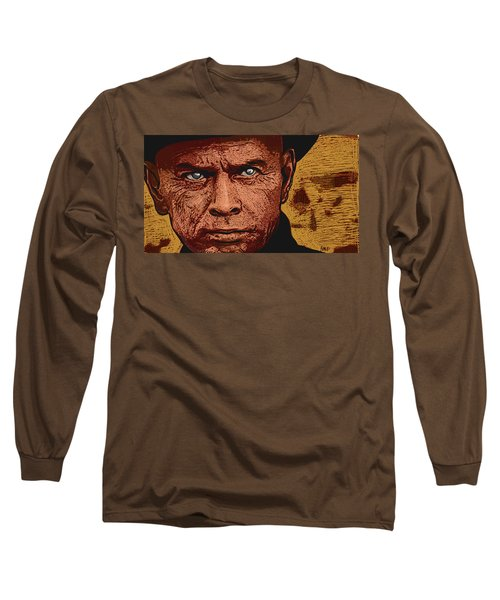 Long Sleeve T-Shirt featuring the digital art Yul Brynner by Antonio Romero