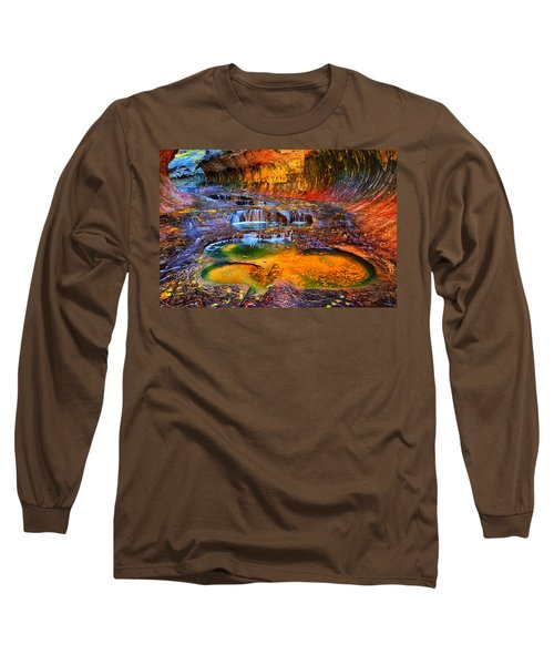 Zion Subway Falls Long Sleeve T-Shirt by Greg Norrell