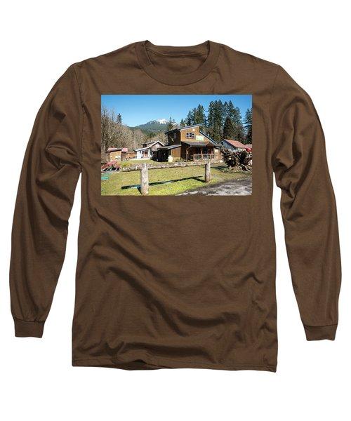 Glacier Coffee Shop Long Sleeve T-Shirt