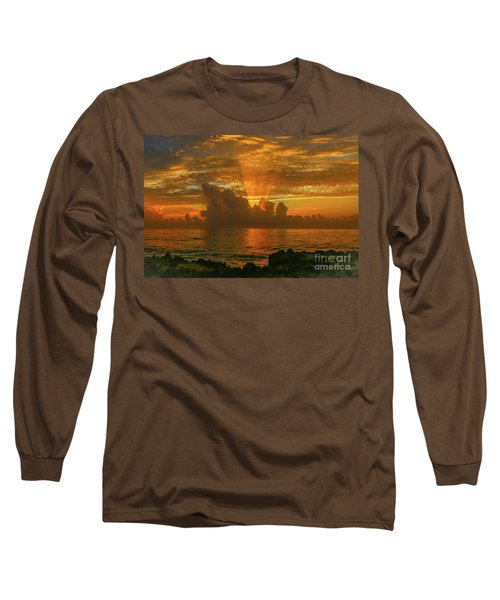 Orange Sun Rays Long Sleeve T-Shirt