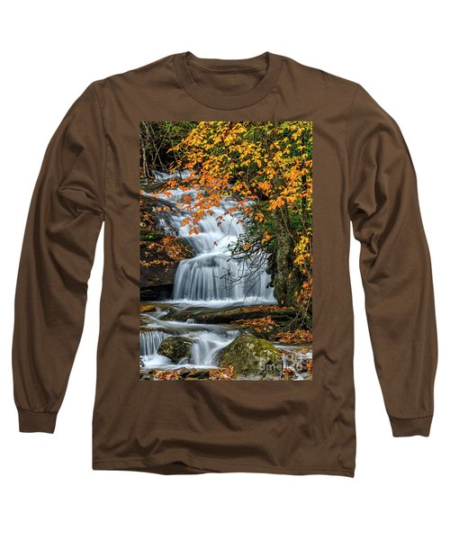 Waterfall And Fall Color Long Sleeve T-Shirt