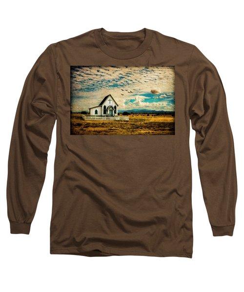 A Lone Prairie Church Long Sleeve T-Shirt