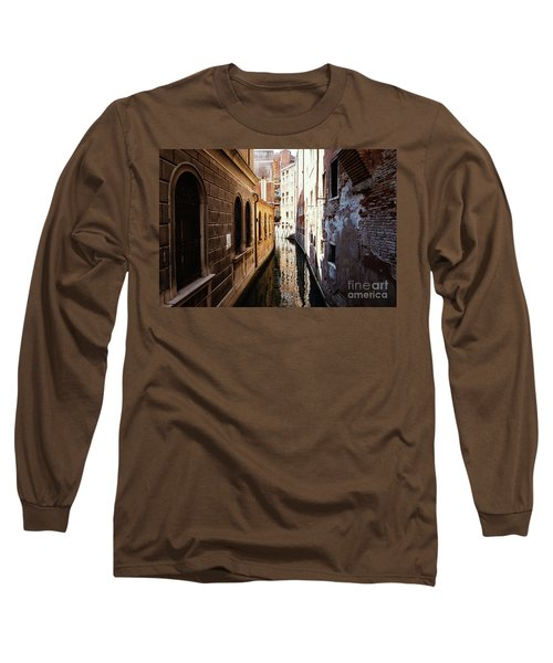 A Shadow In The Venetian Noon Narrow Canal Long Sleeve T-Shirt