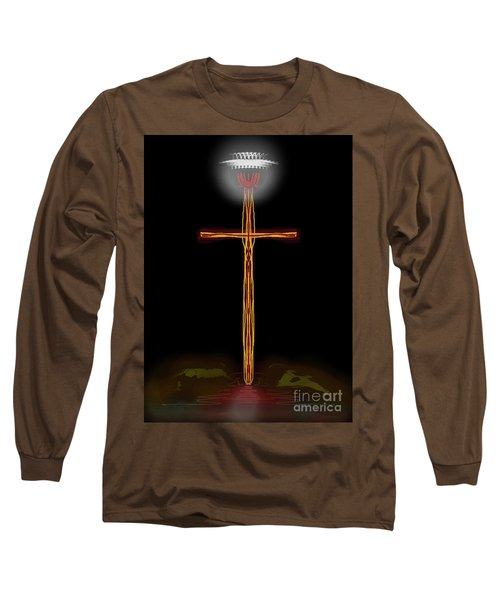 Abstract Cross With Halo Long Sleeve T-Shirt