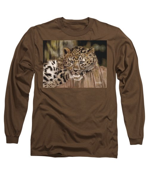 Amur Leopard Cub Long Sleeve T-Shirt