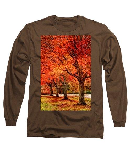 Artistic Four Fall Trees Long Sleeve T-Shirt