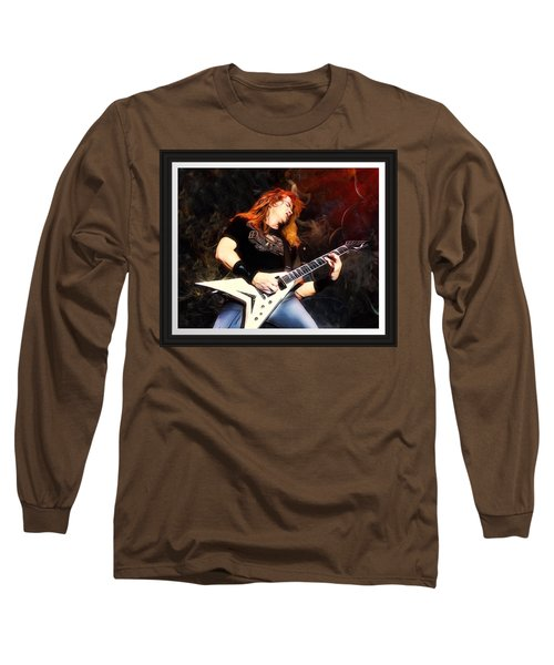 David Mustaine Portrait Long Sleeve T-Shirt