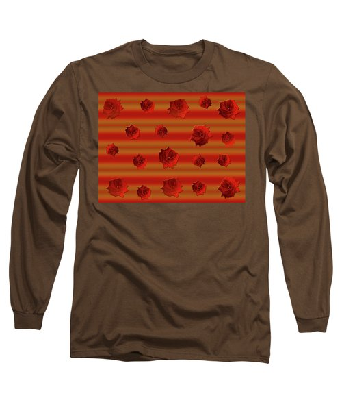 Long Sleeve T-Shirt featuring the photograph Red Roses Falling by Rockin Docks