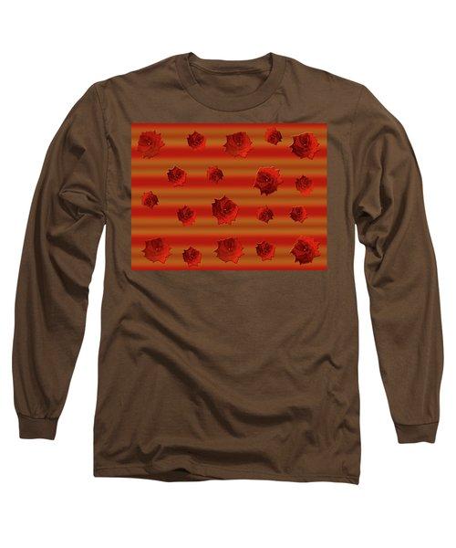 Red Roses Falling Long Sleeve T-Shirt