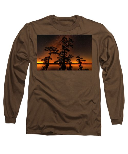 Long Sleeve T-Shirt featuring the photograph Atchafalaya Basin On Fire by Andy Crawford