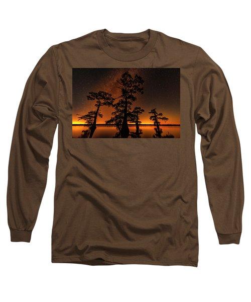 Atchafalaya Basin On Fire Long Sleeve T-Shirt