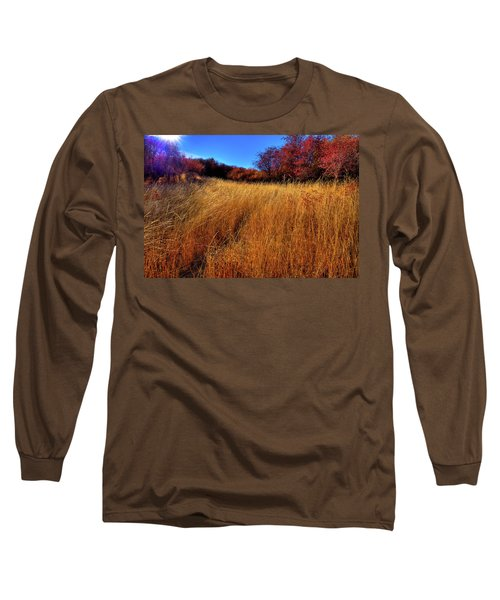 Long Sleeve T-Shirt featuring the photograph Autumn Path by David Patterson