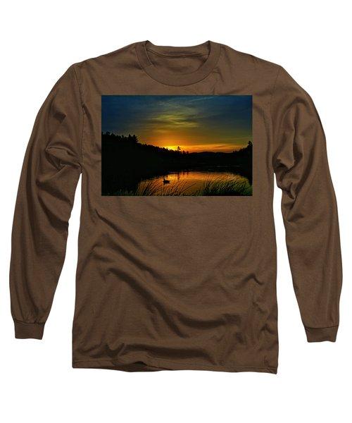 Bass Lake Sunrise Duck Long Sleeve T-Shirt