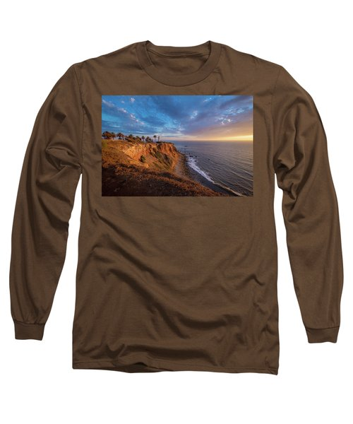 Beautiful Point Vicente Lighthouse At Sunset Long Sleeve T-Shirt