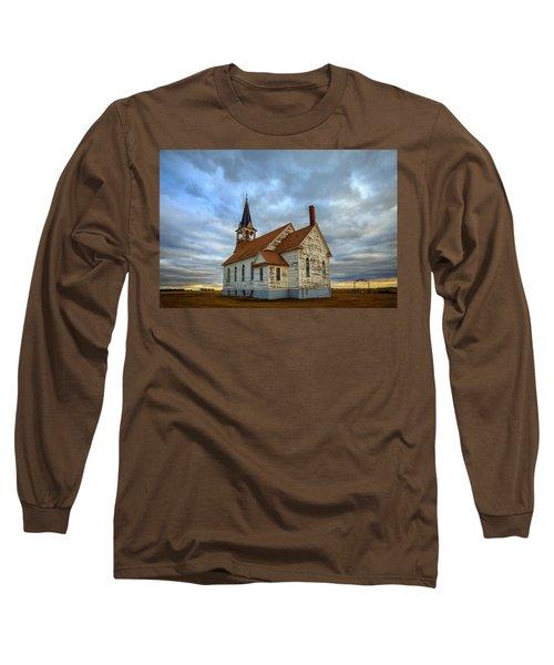 Bethel Scandinavian Lutheran Church At Sunset Long Sleeve T-Shirt