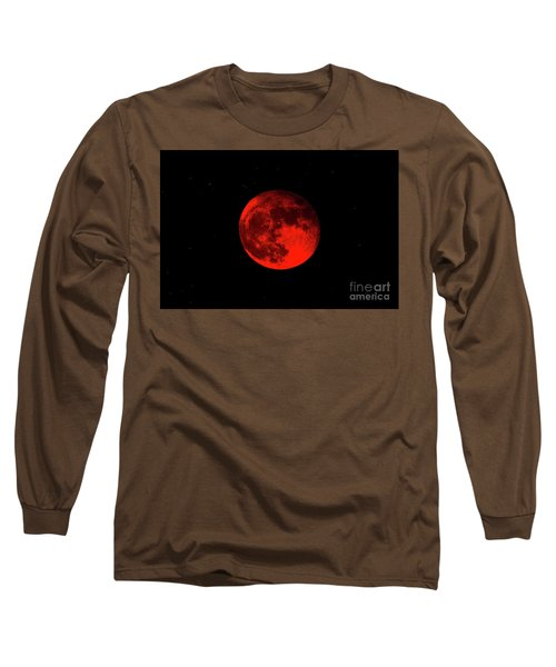 Blood Red Wolf Supermoon Eclipse 873a Long Sleeve T-Shirt